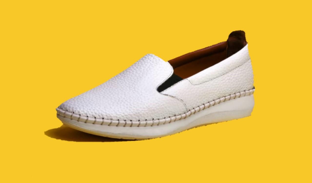 کفش زنانه طبی ساتین بی بند